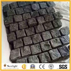 G684 em basalto cinza/preto pedra para pavimentação em mosaico de malha