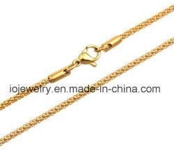 De aangepaste Geplateerde Halsband van de Lengte 18K Goud met de Greep van de Zeekreeft
