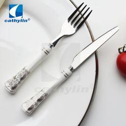 أدوات خزفية عالية الجودة من الفولاذ المقاوم للصدأ التعامل مع أدوات المائدة المصنوعة من خنزير الفاكهة
