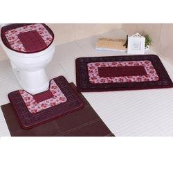 100% полиэстер высокого качества печати тиснения ванны коврик