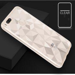 贅沢な3Dダイヤモンドパターン電話箱の細いシリコーンカバー