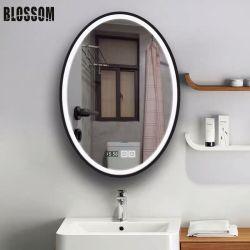 工場価格の浴室によって照らされるLEDによってバックライトを当てられるスマートで黒い組み立てられたミラー