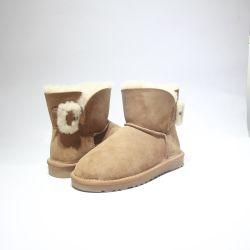Comercio al por mayor moda invierno Australia Sheepkin chicas botas Indoor botas zapatos de nieve caliente al aire libre