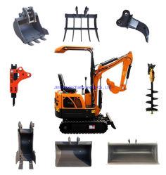 El equipo de construcción Maquinaria 0,8 Ton Ton Ton 1.8 1 3 2 Ton Ton oruga de la miniexcavadora hidráulica para la venta RC Micro pequeña de los precios de la máquina excavadora