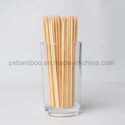 Ronda de bambu churrasco descartáveis personalizados Stick e espetos.