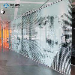 Горячие продажи ясно творческих рисунок конструкции из закаленного стекла стеклянной стеной цифровой печати для создания