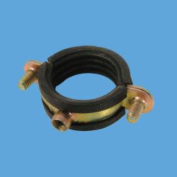 El anillo único de acero al carbono Zinc-Plated Speacing rosca M6 de 1mm con abrazaderas de tubo de caucho EPDM