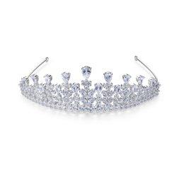 Le luxe Rhinestone CZ Wedding Tiara Accessoires de cheveux