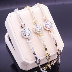 Damen Uhren Accessoires Rund Zirkon Armband Schmuck