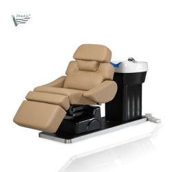 Hoch qualifiziertes elektrisches Haar-waschendes Stuhl-Shampoo-Bett 09c02-3
