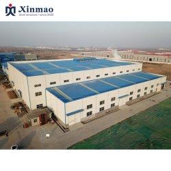 スチール構造ハンガー用亜鉛メッキ鋼板工場ビル。
