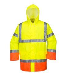 Top Selling PU Raincoat 고가시성 작업복 안전복 하이 비즈 리플렉티브 재킷