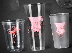 Plastica libera a gettare con la tazza di tè sveglia personalizzata di marchio