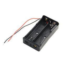 Пластиковый футляр для хранения батарей размера 18650 окно держатель для 2X18650 с потенциальными