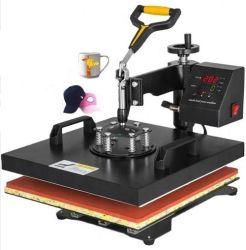 """15"""" X15"""" 5인치 1 열누름 기계 다기능 디지털 전송 T-Shirt 머그컵 햇을 위한 승화 스윙 암 DIY"""