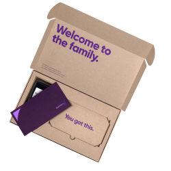 L'impression Shirt Biscuits colis express Carton kraft de stockage de boîte de Papier de cadeau