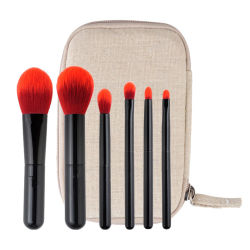 5pcs maquillaje profesional Brush set Premium Synthetic polvo Kabuki Brocha cosmética