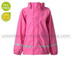 Entièrement le vent et imperméable rose Jeux de Plein Air veste imperméable pour fille