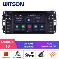 ジープのコンパスまたはラングラーのためのWitsonのクォードコアアンドロイド10車DVD GPSまたは外部カメラとのKreisler組み込みDVRの機能