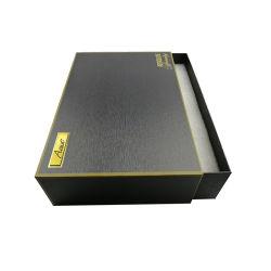 마분지 전자공학 서랍을%s 가진 포장 서류상 구두 상자를 위한 까만 Mens 벨트 서랍 상자 활주 선물