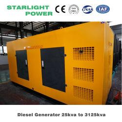 Doosan Daewoo 디젤 엔진 발전기 100kw Genset 125kVA 발전소 침묵하는 생성 세트