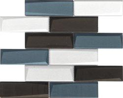La decoración de diseño moderno Metro Backsplash baldosas mosaico de vidrio para