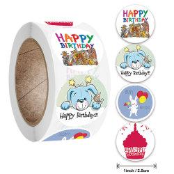 Etiquetas redondas fábrica Kraft artesanais das embalagens de papel autocolante para Candy Bag Saco de Embalagem Caixa de oferta graças autocolantes de casamento