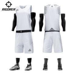 O Desporto Rigorer Formação de basquetebol de sublimação térmica uniforme Jersey Design simples