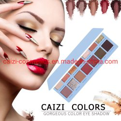 Flikkering 14 van de oogschaduw het Palet van de Make-up van Kleuren past Privé Embleem aan