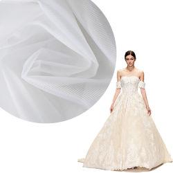 OEM de Digitale Stof van het Netwerk van de Druk Witte Bruids Harde Nylon voor de Kleding van het Huwelijk