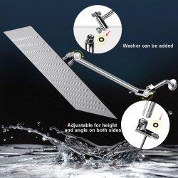 12 pouces carrés haute Pressure-Rain pomme de douche avec bras d'extension de réglage de 11 pouces