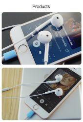 Real Original Hochwertige 3,5mm kabelgebundene Kopfhörer für Apple iPhone 5 iPhone6 iPhone6s iPhone7 mit Fernbedienung und Mikrofon