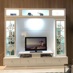 Salon TV chinois de l'unité meuble TV en bois avec LED