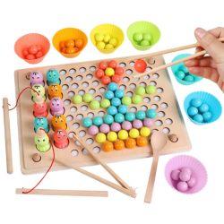 El aprendizaje de las manos la formación del cerebro de madera juego coincidentes Abalorios Clip