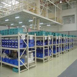 Entreposto Industrial Metal Armazenamento Long Span Serviço Médio estantes com compartimento de plástico