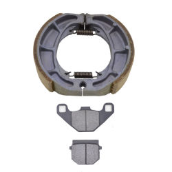 Motorrad-vordere Bremsscheibe-Auflage-hintere Bremstrommel-Schuhe