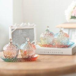Commerce de gros de la série Creative Magic Pattern Gradient sucre couleur Bols en verre