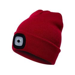 Avvertimento d'escursione esterno di illuminazione del cappello LED degli adulti, Beanie, cappello di promozione