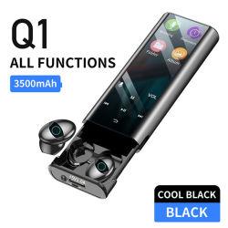Q1 беспроводные наушники Bluetooth наушники-вкладыши Многофункциональный MP3-плеер гарнитура IPX7 водонепроницаемый 9d Tws наушников (с 3500Мач питание банк зарядка)