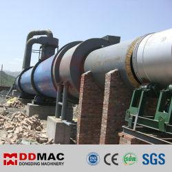 Secador de tambor giratorio industrial para el polvo mineral, la arcilla, arena de sílice, cuarzo, el secado de yeso