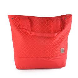 حقيبة يد ساخنة ذات مقبض مواد مبطنة باللون الأحمر عالي الجودة