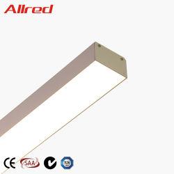 Interiores de alta potencia 60W Nuevo diseño Colgante colgante de aluminio LED Lámpara de luz lineal