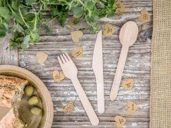 プラスチック環境に優しい木テーブルウェア無し(ナイフのフォークのスプーンのセット) 11cm 14cm 16cm
