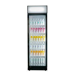 Bebidas comerciales Mostrar pantalla bebida nevera refrigerador congelador vertical