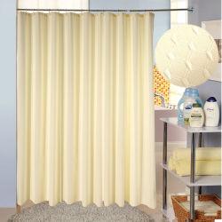 防水ファブリックが付いている100%年のポリエステル薄い色のシャワー・カーテン
