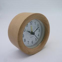 92mm 나무로 되는 자명종 호텔 테이블 시계