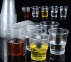 Wegwerpbare plastic drinkbeker voor helder water, plastic mok