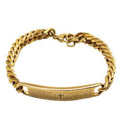 Le Titane Bracelet en acier, les hommes de coeur Bracelet Bracelet, Coupe du Monde de la croix