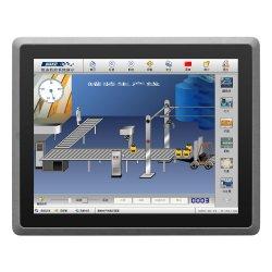 """RS232/485 Opcional 10.4"""" 12.1"""" 15"""" 17"""" 19"""" tudo em um Computador Mini sem ventoinha Industrial Embedded PC"""