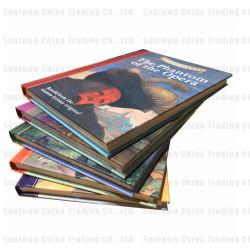 Stampa rotonda del libro di bambini della spina dorsale del Hardcover con il nastro